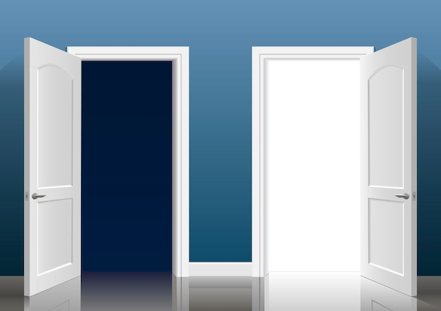 Deux portes ouvertes