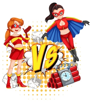 Deux super-héros se battent