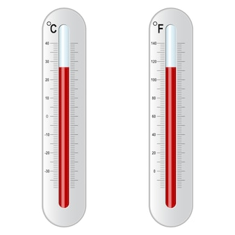 Deux thermomètre. celsius et fahrenheit.