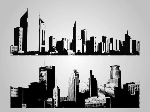 Deux toits de la ville différente