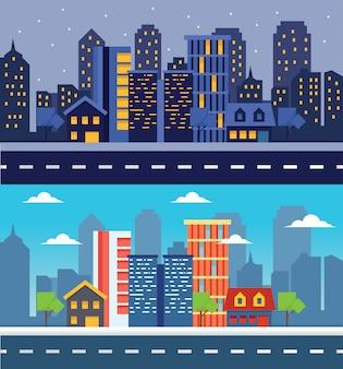 Deux variations de la ville