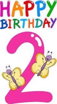 Deuxième anniversaire anniversaire design