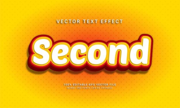 Deuxième effet de texte modifiable