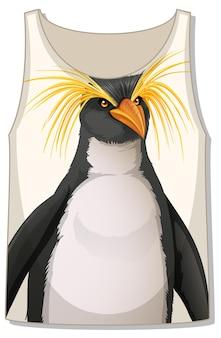 Devant du débardeur sans manches avec motif pingouin