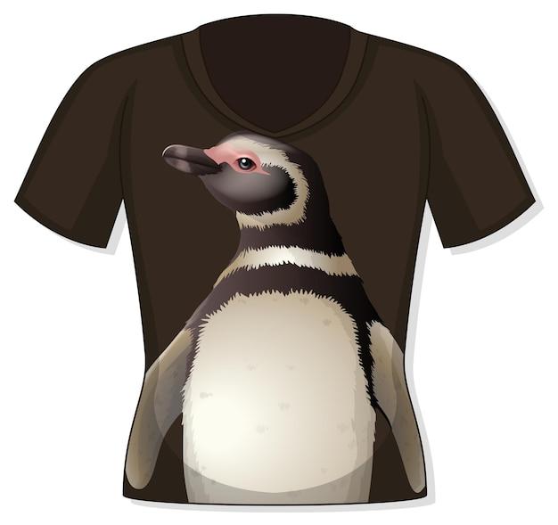 Devant du t-shirt avec motif pingouin