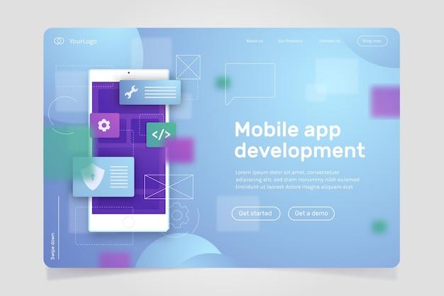 Développement d'applications - page de destination