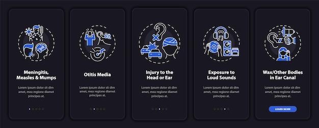 Développement d'un écran de page d'application mobile d'intégration d'hypoacousie avec des concepts