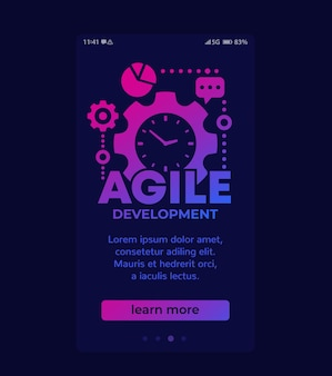 Développement de logiciels agiles, conception de vecteurs mobiles