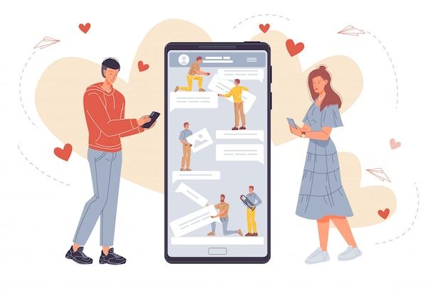 Développement de la messagerie mobile pour les personnes