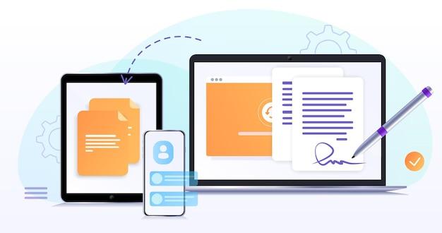 Développement de page de site web de conception web de concept le processus de travailpage de destination de modèle pour le site web