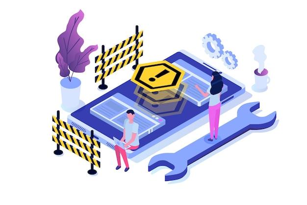 Développement de site web, site web en construction