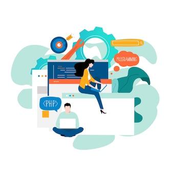 Développement de sites web de programmation et d'application