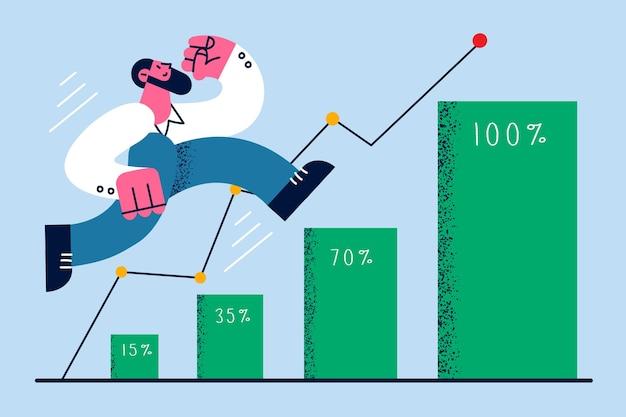 Développement et succès dans le concept d'entreprise