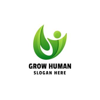 Développer la conception de logo de dégradé humain