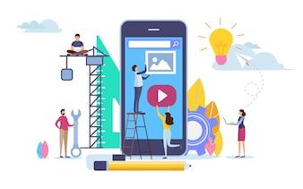 Développeur créer une application