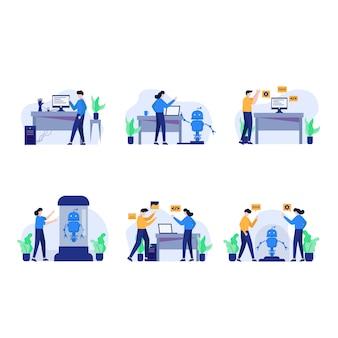 Le développeur réinitialise, conçoit, discute et crée le décor des applications android