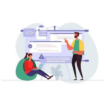 Développeur de site web programmation illustration plate