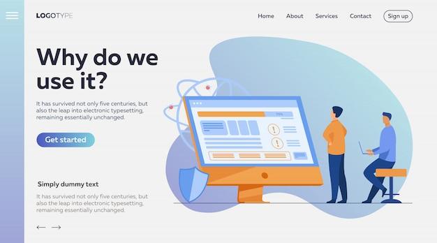 Développeurs testant des logiciels