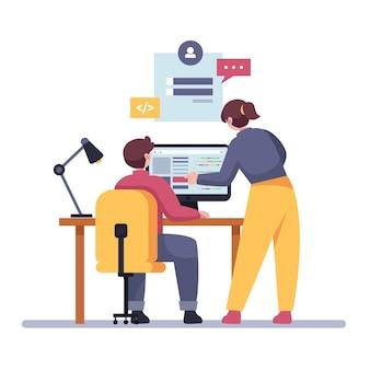 Développeurs web design plat