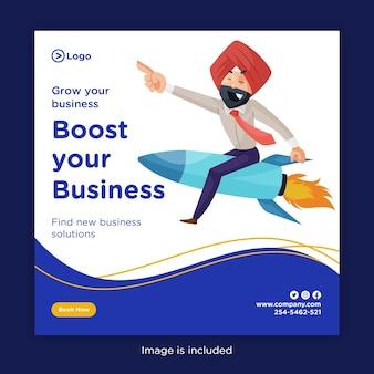 Développez votre entreprise et améliorez la conception de votre bannière d'entreprise
