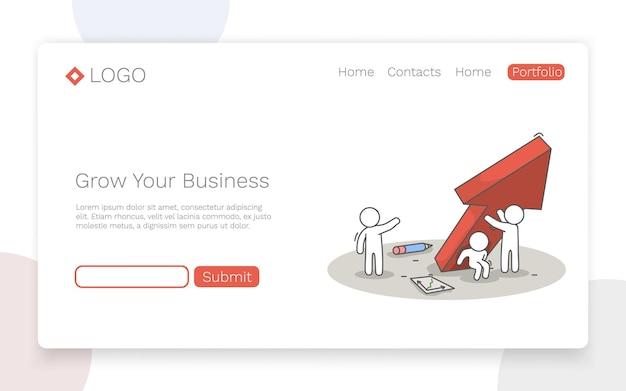 Développez votre entreprise. concept de travail d'équipe et de réussite. concept de page de destination