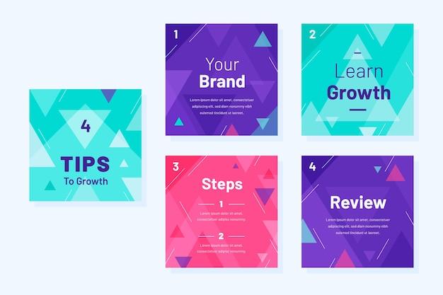 Développez votre modèle de conseils instagram de marque