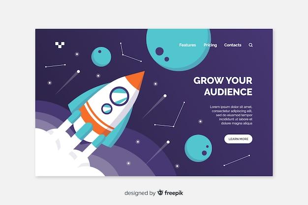 Développez votre page d'atterrissage de fusée d'audience
