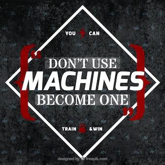 Deviens un fond de machine