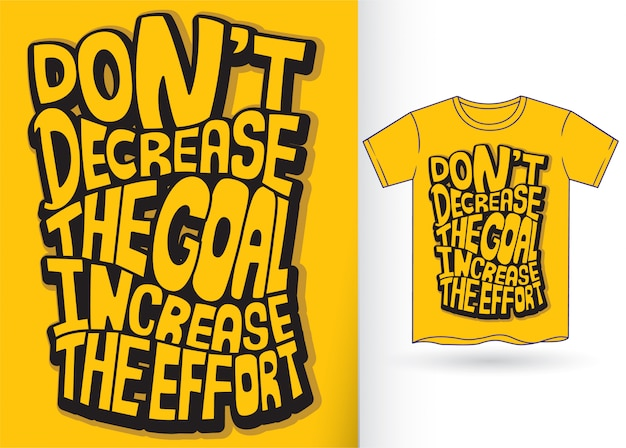 Devis de lettrage pour tshirt