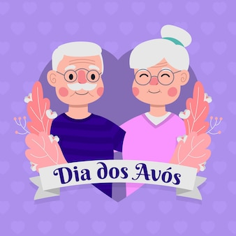 Dia dos avós avec grand-parent