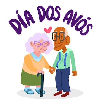 Dia dos avós illustration dessiner design