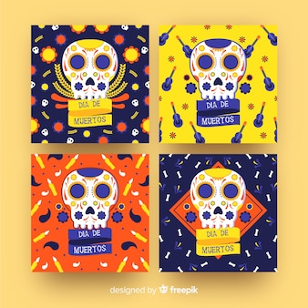 Día de muertos avatar instagram post collection