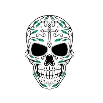 Dia de muertos crâne design b