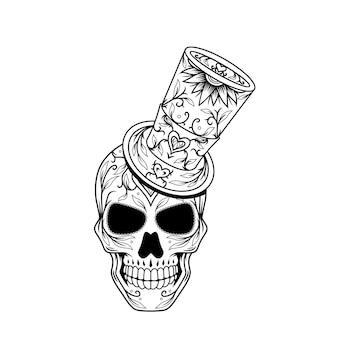 Dia de muertos crâne design e