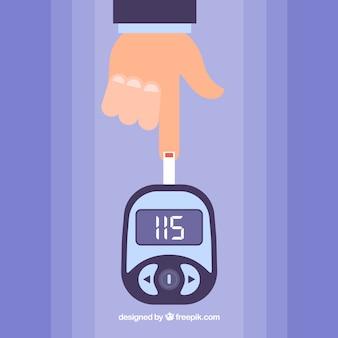 Diabétiques, tester le sang avec un design plat
