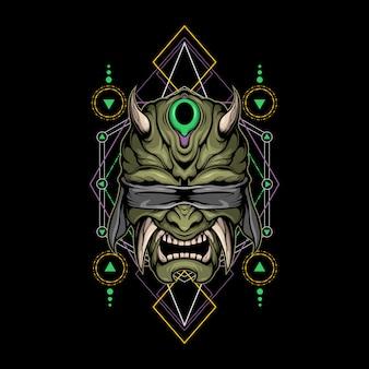 Diable aveugle géométrie sacrée