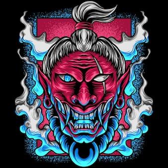 Le diable samouraï japon
