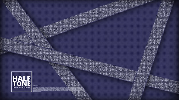 Diagonale du motif de demi-teintes dégradé