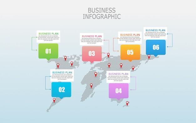 Diagramme affaires et éducation par l'étape 6 illustration de la conception des étapes