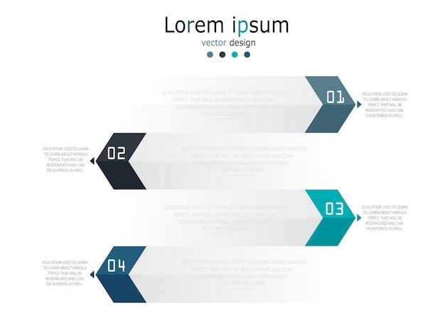 Diagramme d'affaires et illustration vectorielle éducation vecteur premium