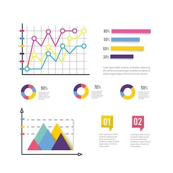 Diagramme d'affaires avec rapport d'information infographique