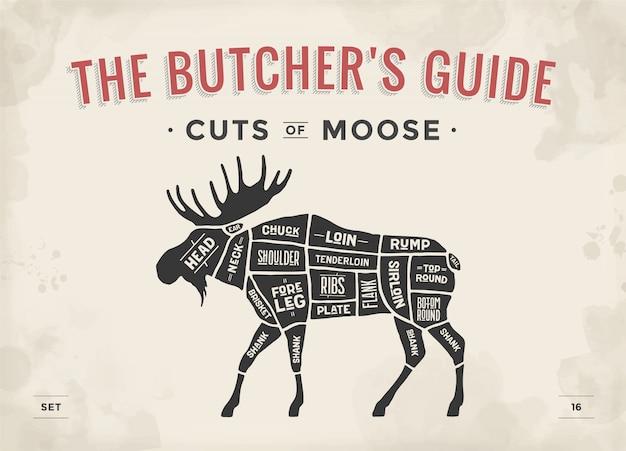 Diagramme de boucher, schéma - moose