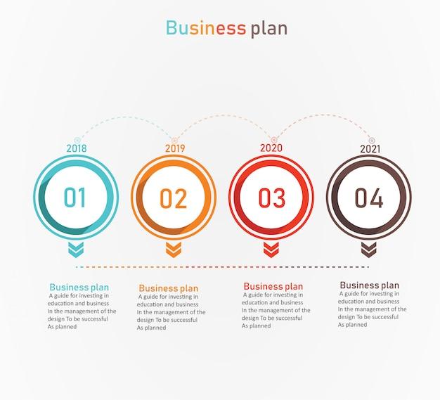 Diagramme entreprise et éducation par étape 4 illustration vectorielle
