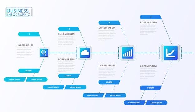 Diagramme de flux infographique organisation de l'entreprise ensemble de données analyse des données de classification des processus