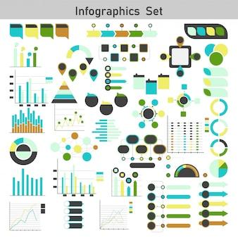 Diagramme d'infographie, graphique et graphique.