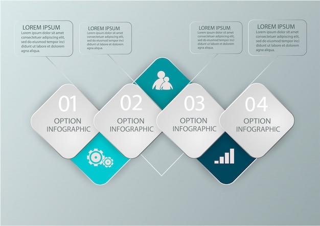 Diagramme d'infographie moderne pour la conception web, mises en page, rapports financiers. concept d'entreprise.