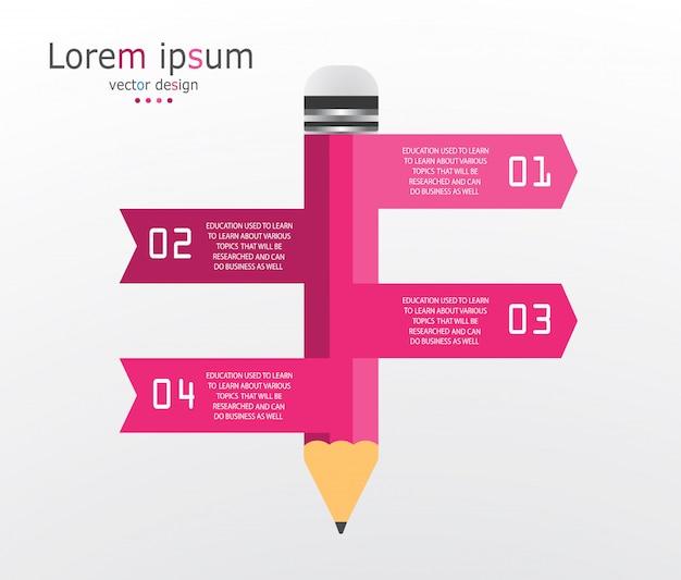 Diagramme modèle infographie affaires et éducation