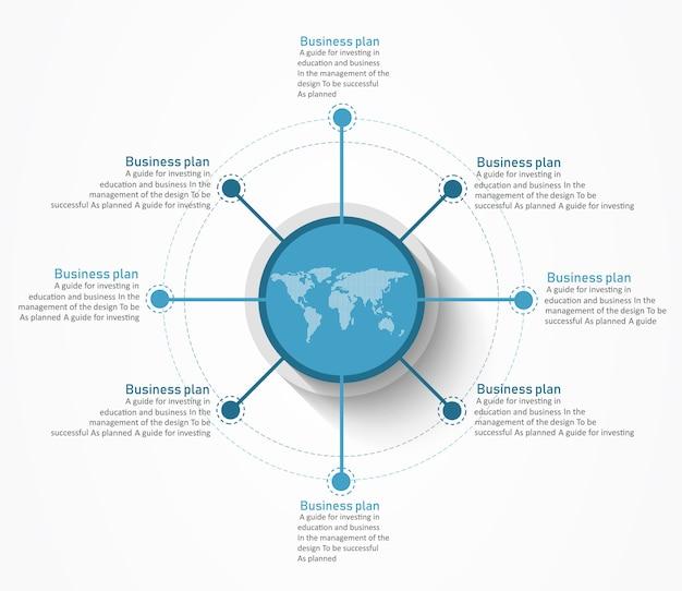 Diagramme utilisé dans la conception ou l'éducation il y a huit étapes ou niveaux.