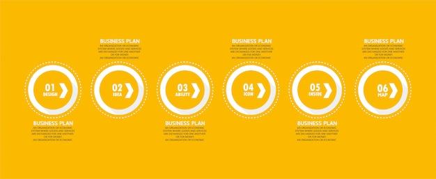 Les diagrammes commerciaux et éducatifs infographiques suivent les étapes utilisées pour présenter la présentation avec l'étude.