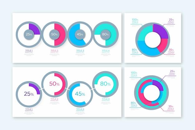 Diagrammes de dégradé de balle harvey - infographie